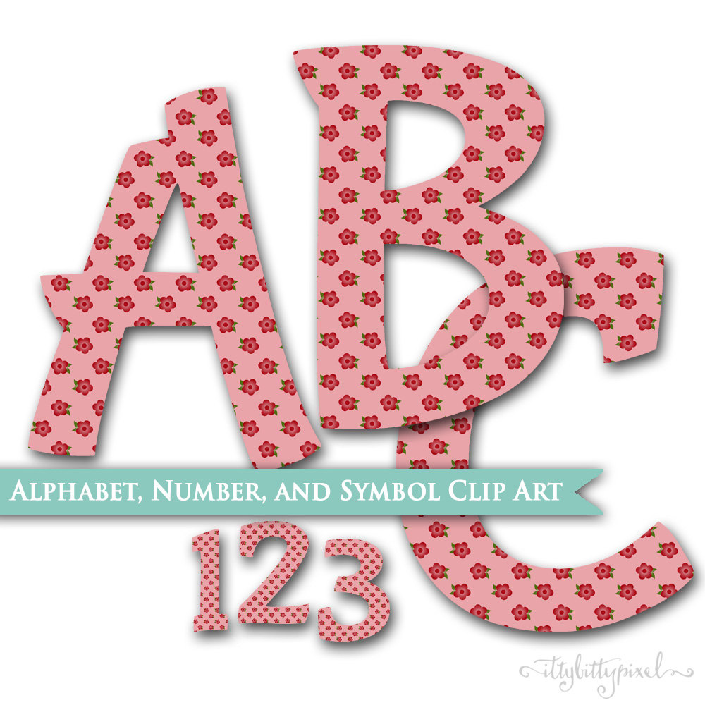 Typeface clipart scrapbook Year and Digital Birthday &