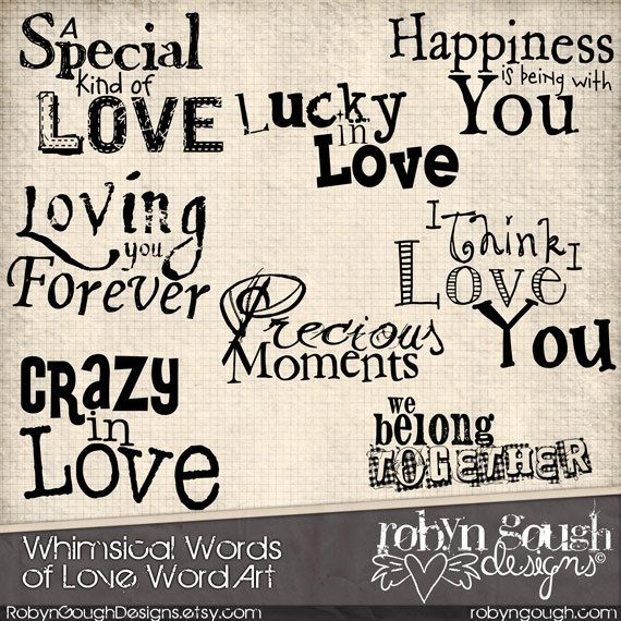 Creative clipart the word Best Romantic Love Art Word
