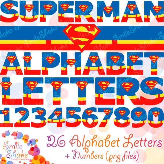 Typeface clipart superman Clipart & PNG Alphabet Alphabet