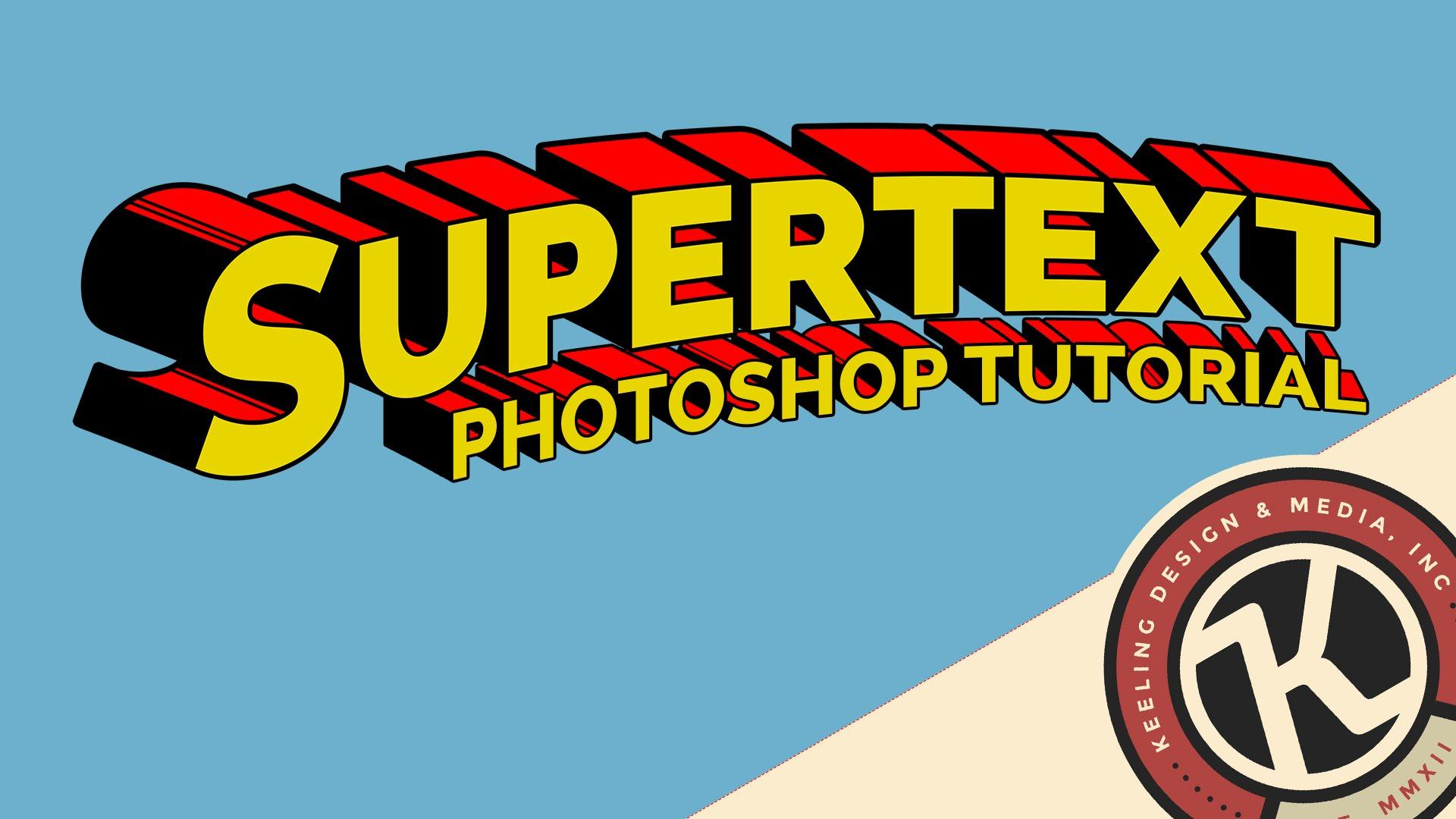 Typeface clipart superman Photoshop Tutorial: YouTube Supertext Photoshop