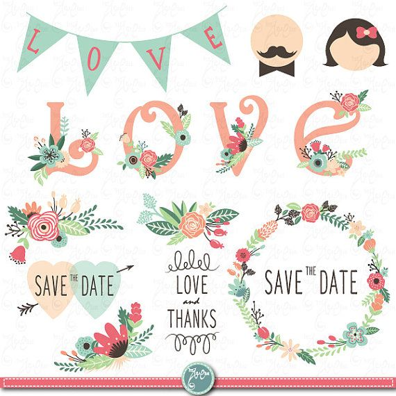 Gallery clipart vintage wedding Typography 360 best İllustration Floral