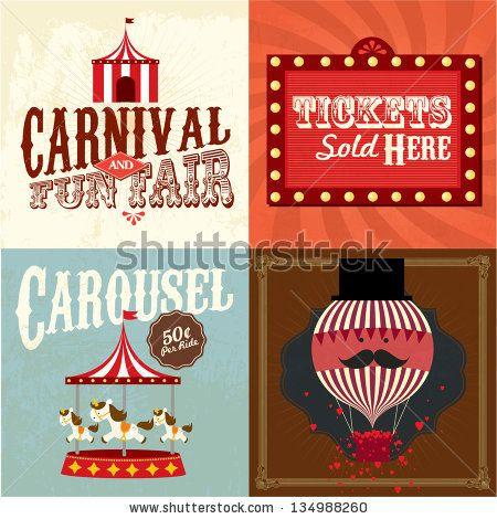 Typeface clipart vintage carnival Ideas font Vintage lyeyee template