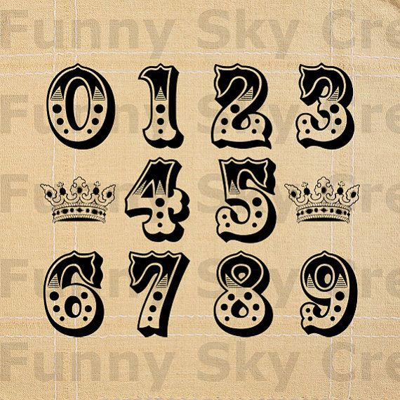 Typeface clipart vintage carnival Ele about Circus FunnySkyCreations Calligraphy