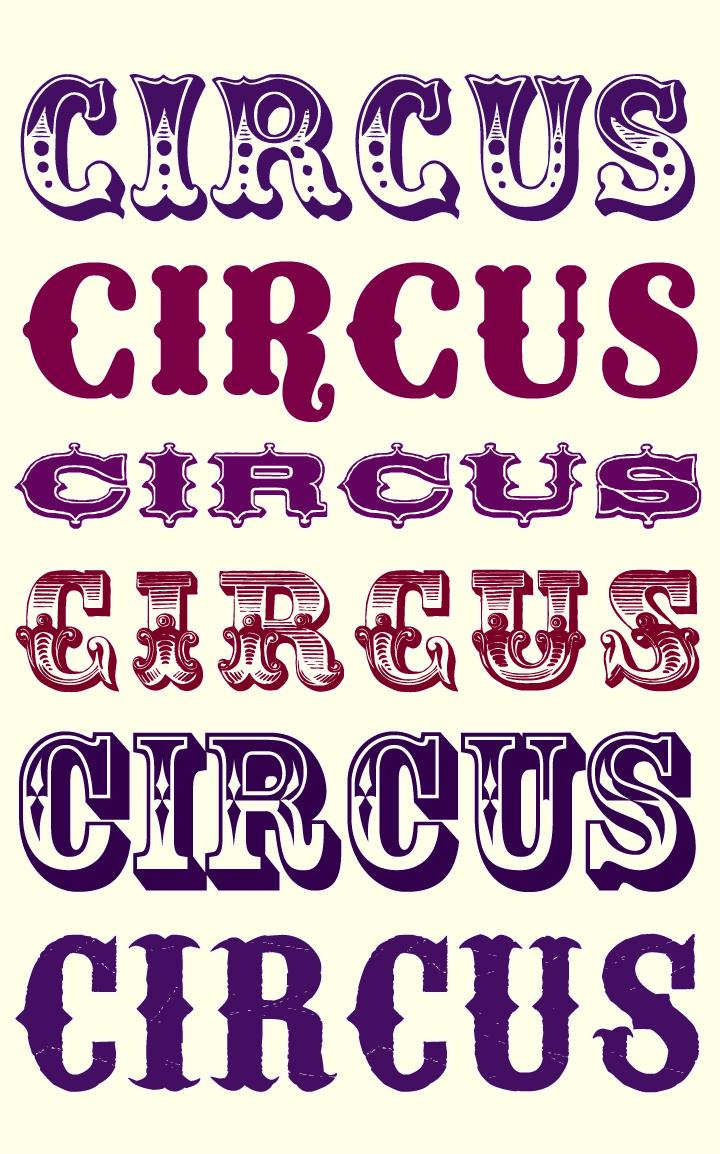 Typeface clipart vintage carnival Vivante: Bonne A fonts
