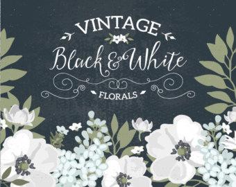 Vintage Flower clipart wedding invitation #6