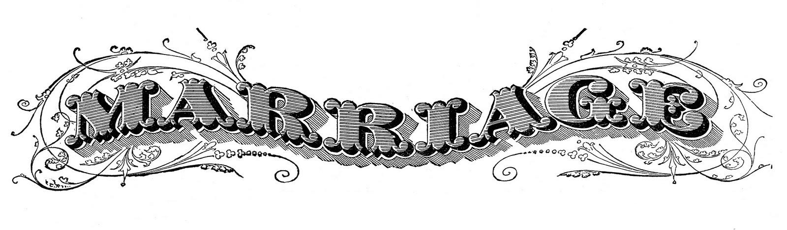 Typography clipart vintage bridal Clip Wedding  Art The