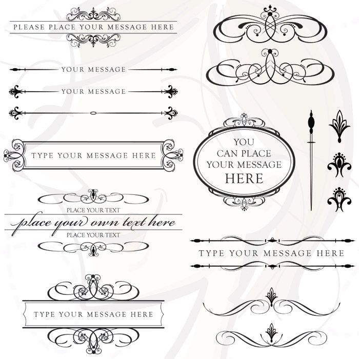 Typography clipart retro wedding The Text Date Polices Pinterest