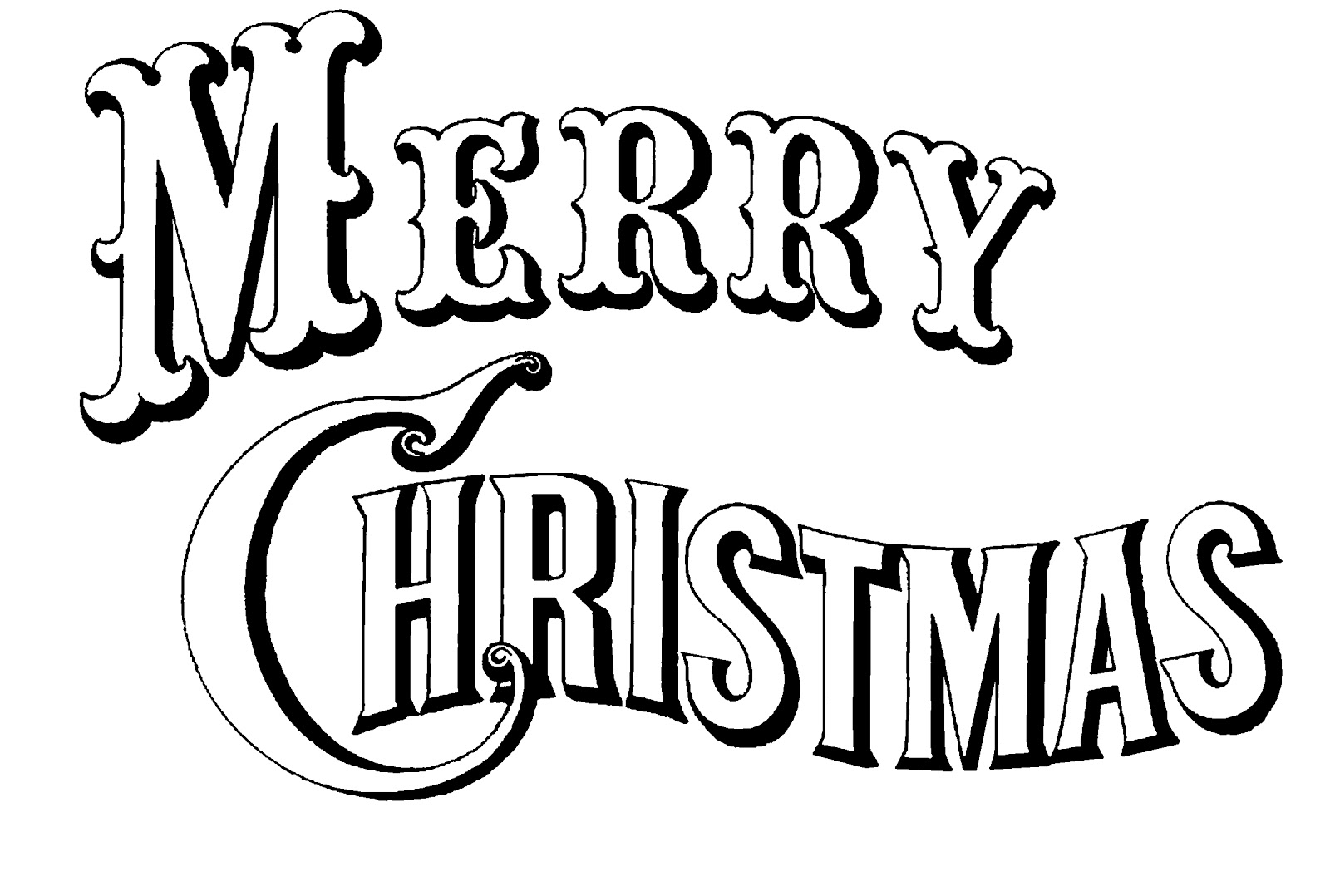 Typography clipart black and white Cliparts fonts Clipart Collection Xmas