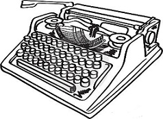Typewriter clipart paper illustration Free typewriter Vintage Typewriter Clipart