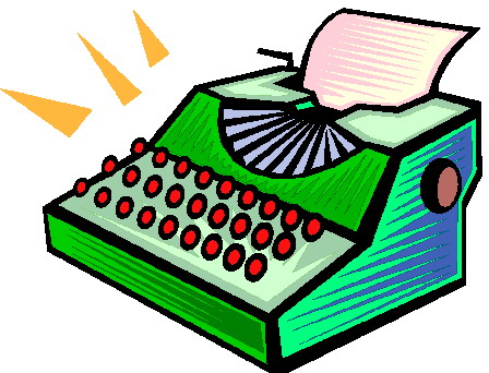 Typewriter clipart paper illustration Typewriter Clip Art on Free