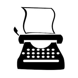 Typewriter clipart paper illustration Typewriter Free Clip Art