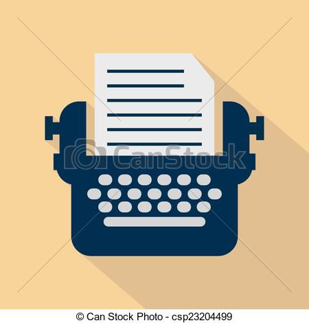 Typewriter clipart animated Of icons csp23204499  with