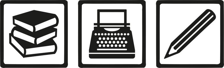 Typewriter clipart book author Vidéos de Writer typewriter illustrations
