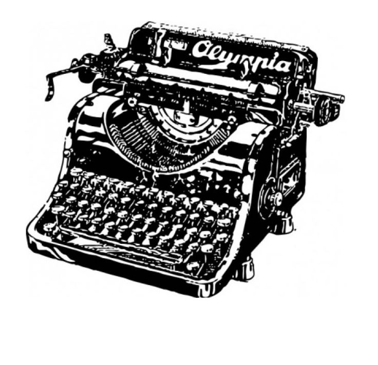 Typewriter clipart book author Best images Find more Love