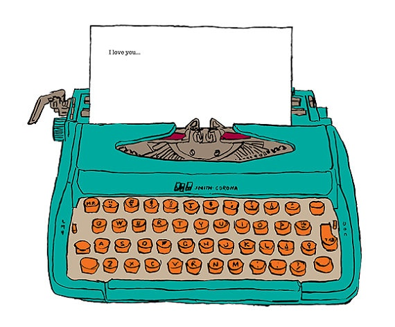 Typewriter clipart book author You 536 Greeting writer illustrations