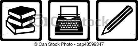 Typewriter clipart book author Book Typewriter Writer typewriter Vector