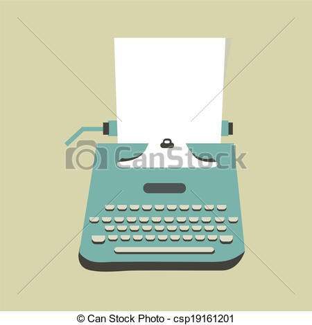 Typewriter clipart paper illustration Illustration csp19161201  typewriter paper