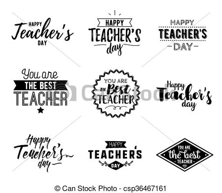 Typography clipart Of vector Clip vector Happy
