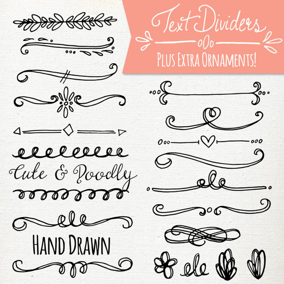 Typography clipart Vector Commercial Text // Text