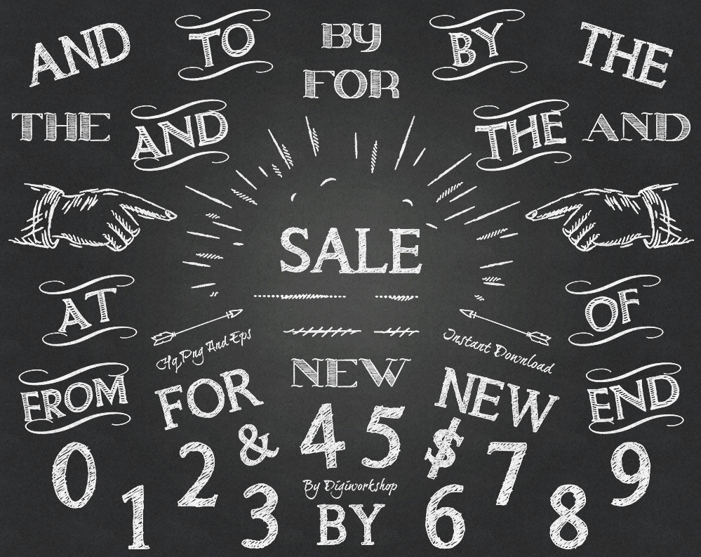 Typography clipart Chalkboard Clipart Like Clip this