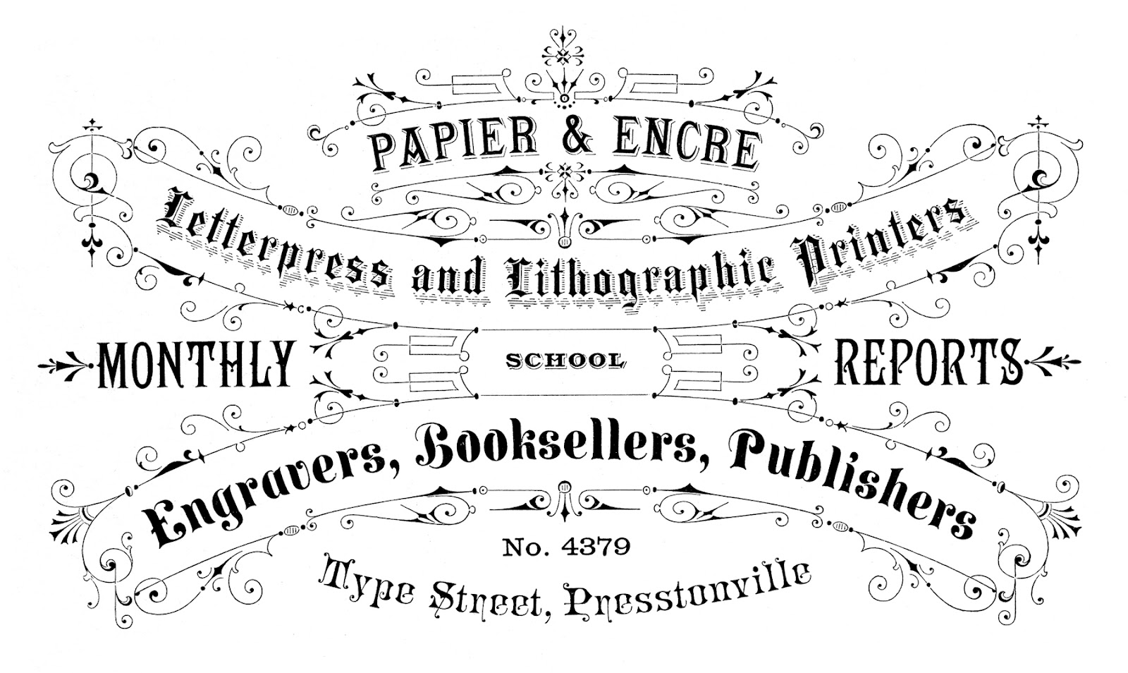 Typography clipart 3 – Typography Graphics Antique