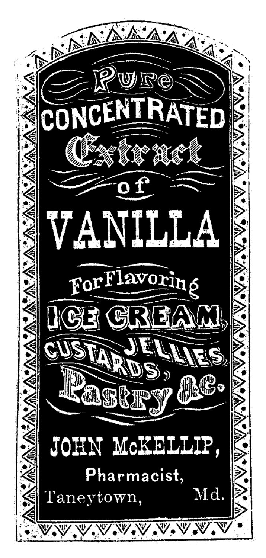 Vanilla clipart Label  Vintage Extract Vanilla