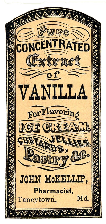 Wodka clipart retro Vanilla – Extract Label