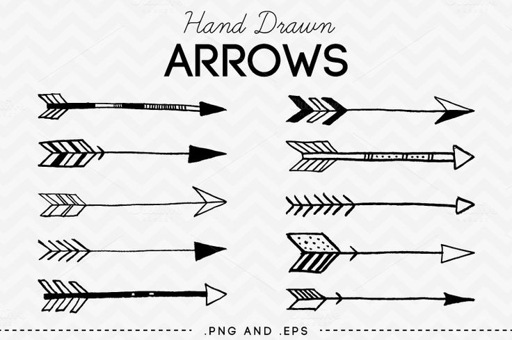 Arrow clipart hand drawn Clipart Arrow without Drawn arrow
