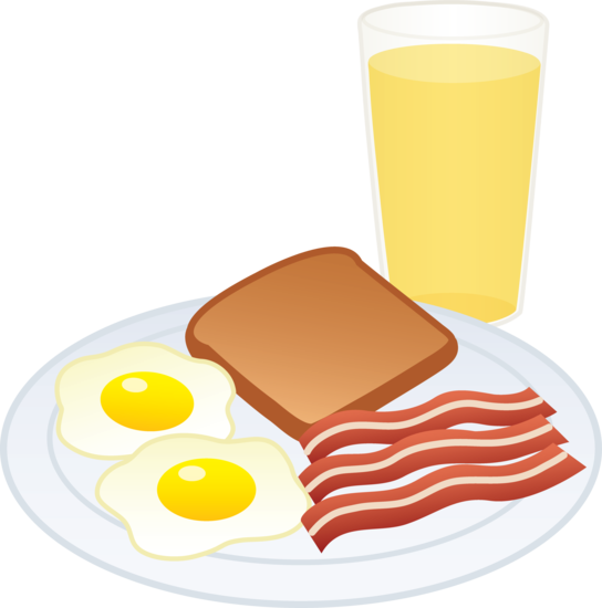 Bacon clipart breakfast item And Art Juice  and