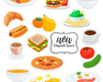 Breakfast clipart meal Meal Digital Lunch Dinner clipart
