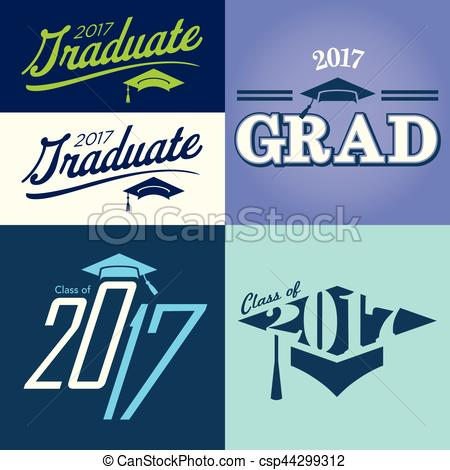 Typography clipart congrats Of of 2017 Typography
