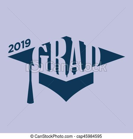 Typography clipart congrats 2019 of 2019 Typography