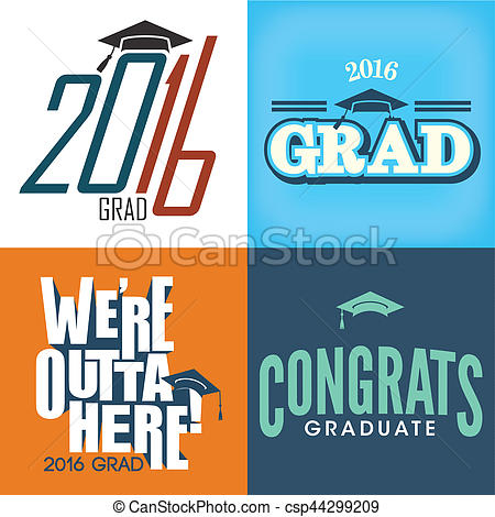 Typography clipart congrats Graduate for Used be of