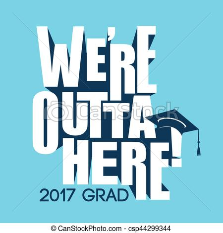 Typography clipart congrats 2017 of 2017 Typography