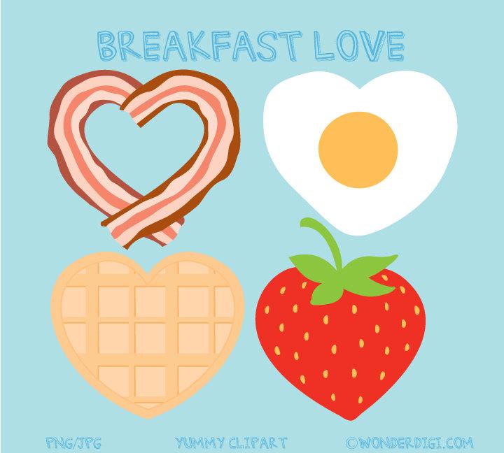 Bacon clipart breakfast item Clip Clipart Clipart Valentine clipart