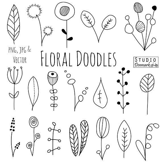 Drawn nature leaf  Clipart Blätter… und Blüten