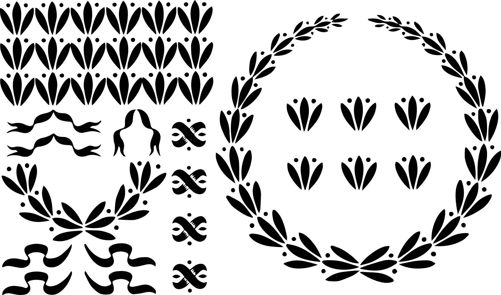 Wreath clipart ribbon Wreath Nifty Free Clip &