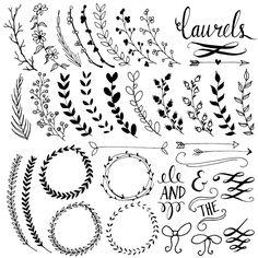 Wreath clipart calligraphy Y por Wreath Pizarra Clip