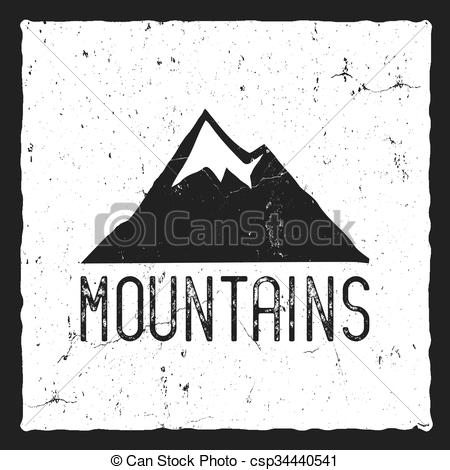 Typography clipart old style Style poster Wilderness Stamp of