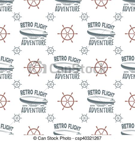 Typography clipart old style Retro seamless Vector pattern of