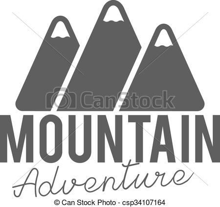 Typography clipart old style Style mountain  badge Stamp