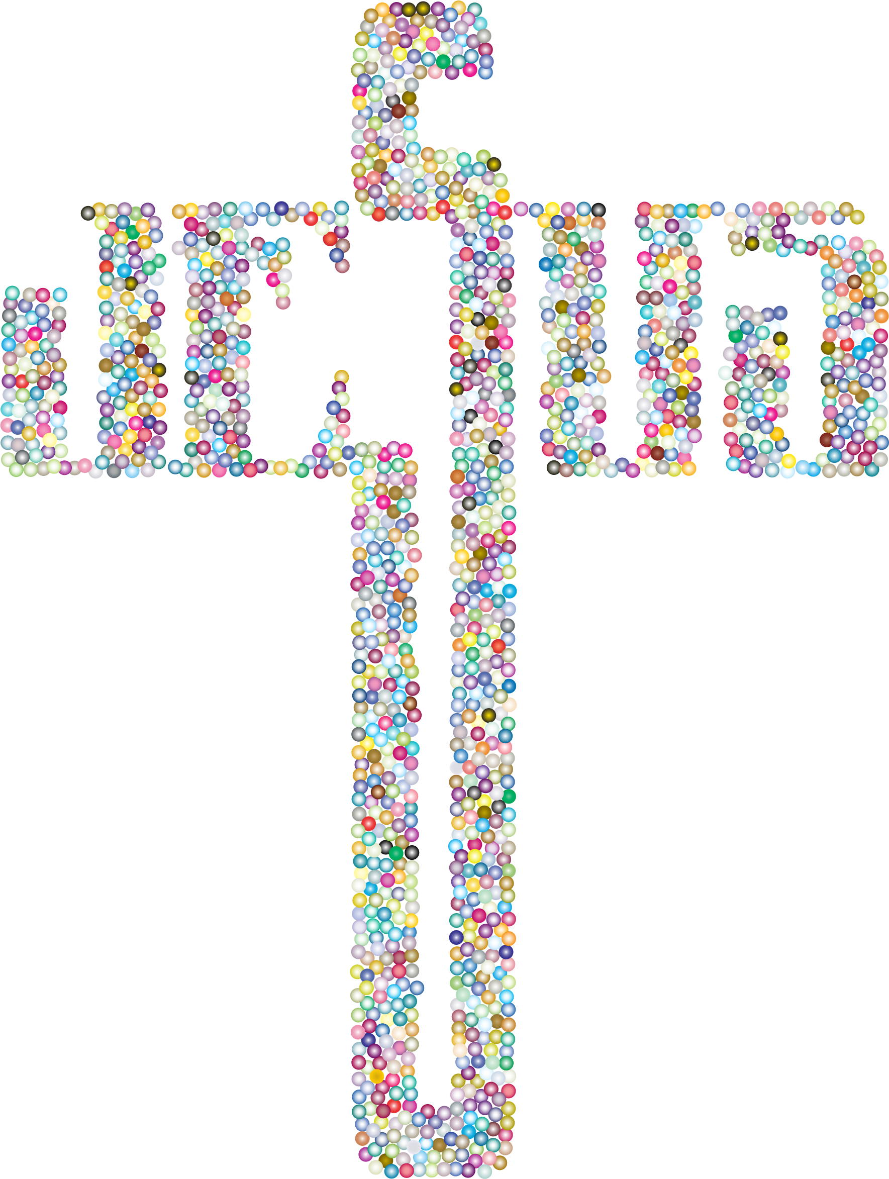 Typography clipart religious Typography Cross Prismatic No Background