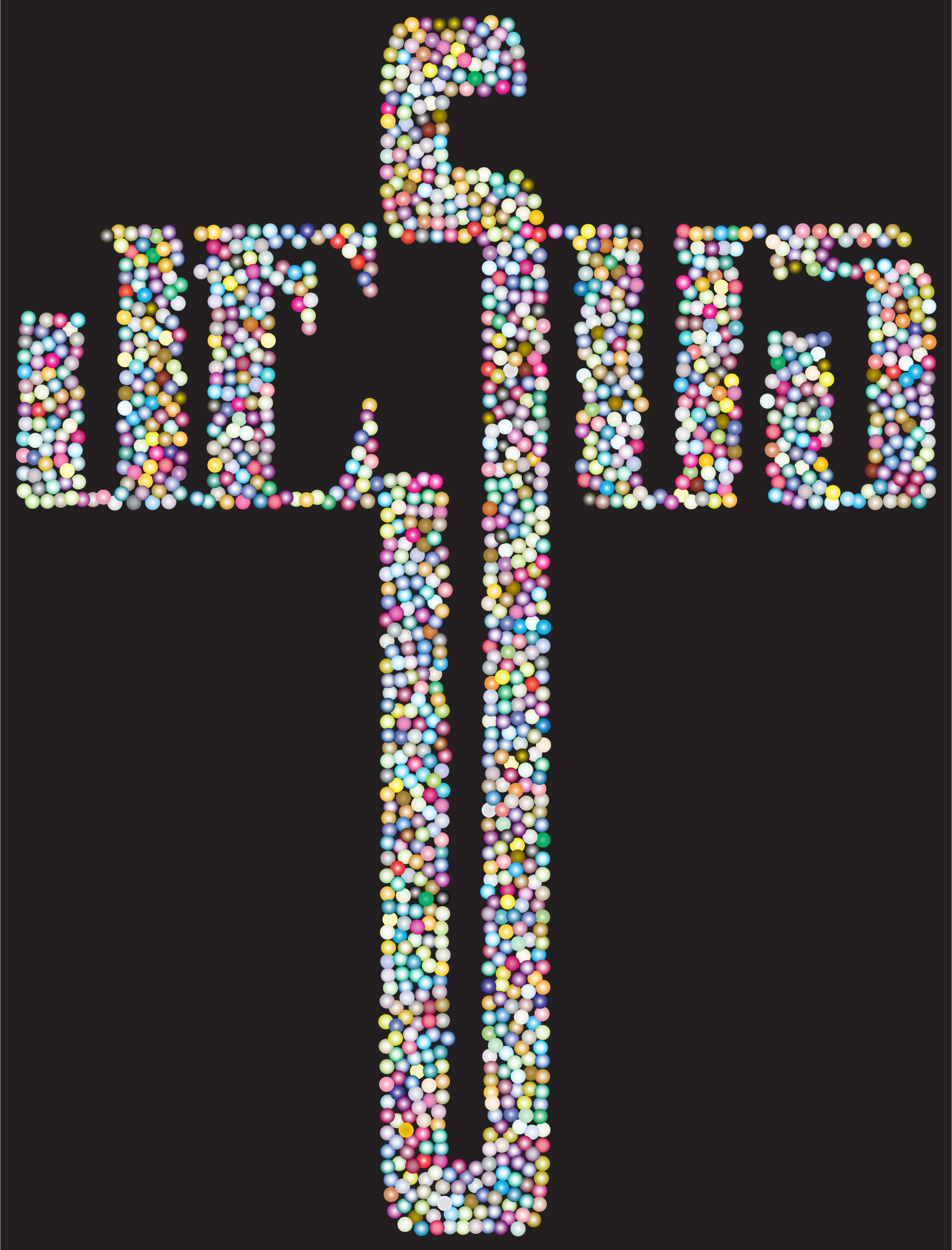 Typography clipart religious Dots Cross Clipart Prismatic Typography
