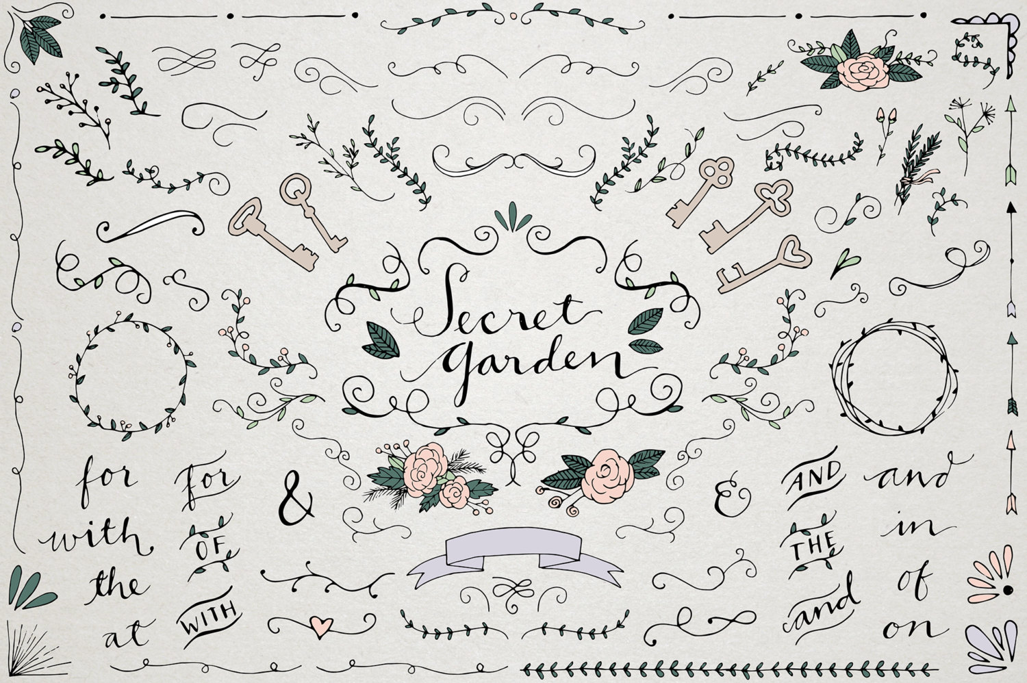 Typography clipart retro wedding Wedding ornaments Clipart is and