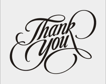 Typography clipart thank you calligraphy Png dxf cdr pat you