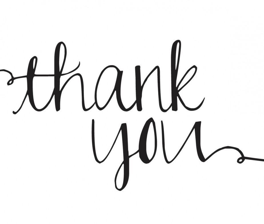 """Typography clipart thank you calligraphy Designs """"Thank You"""" Greeting Clip"""