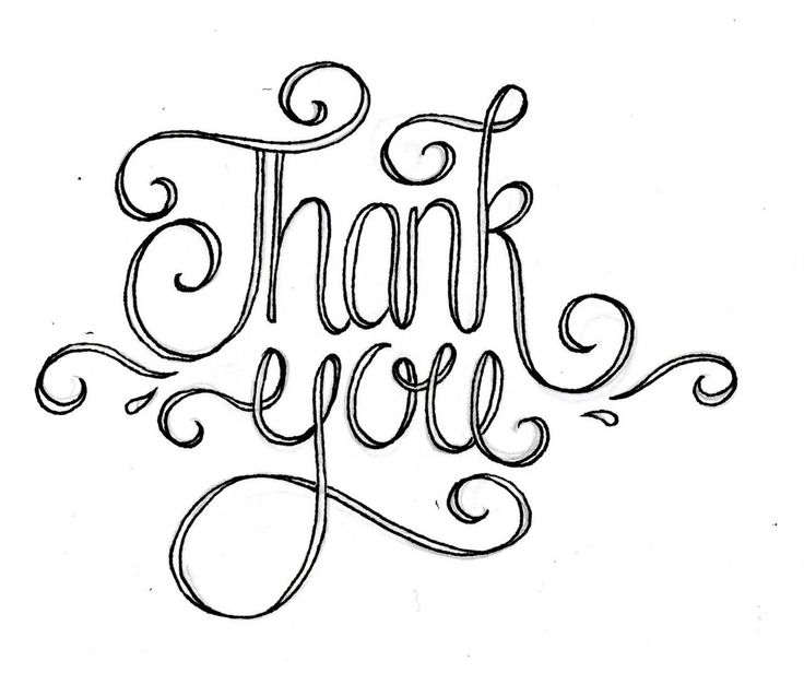Typography clipart thank you calligraphy Thank of best There typography