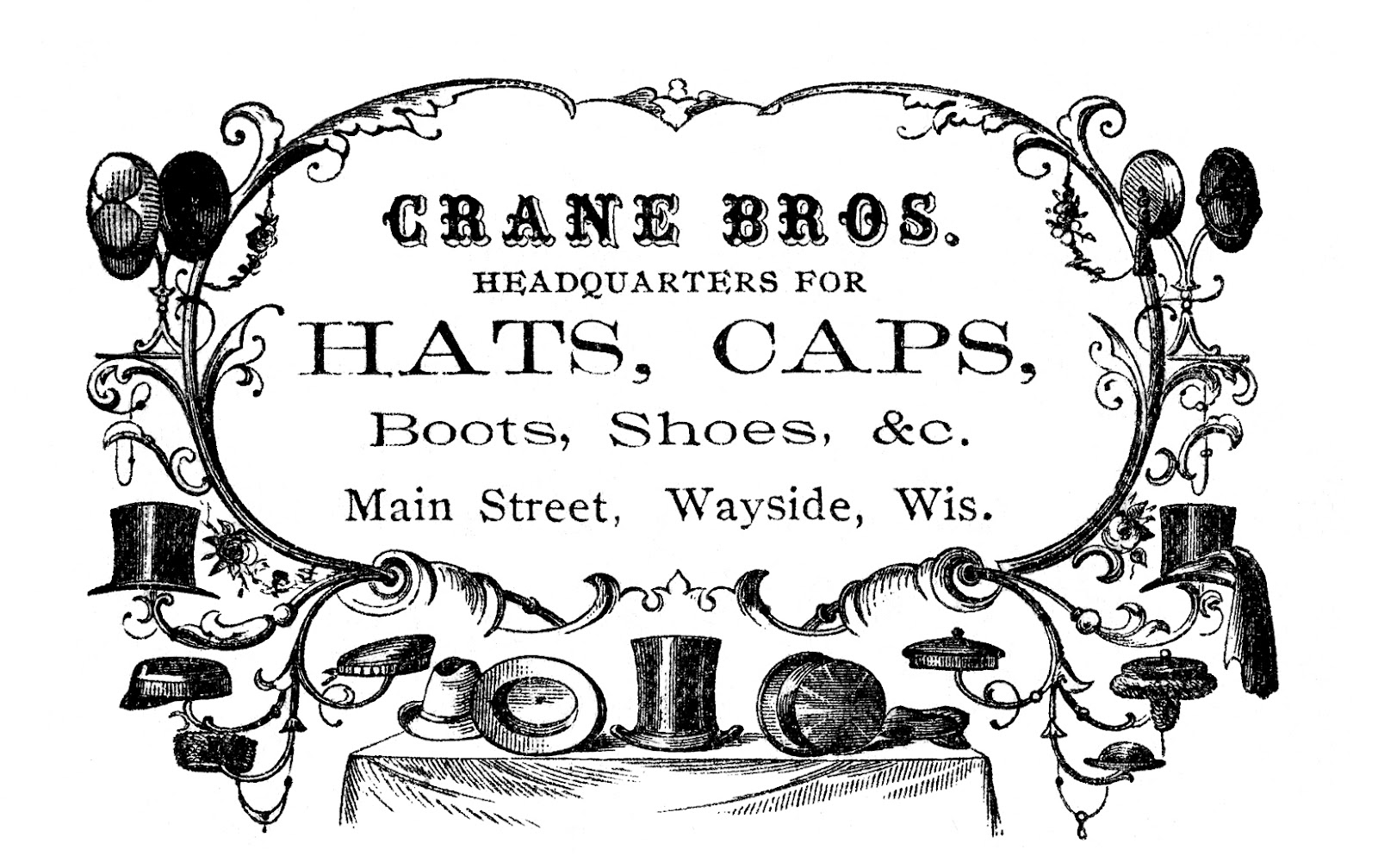 Advertisement clipart advertising Graphics Art The Victorian Vintage