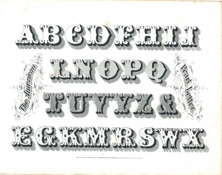 Typeface clipart vintage carnival About images ANTIQUE BOOKLEAF 1800s