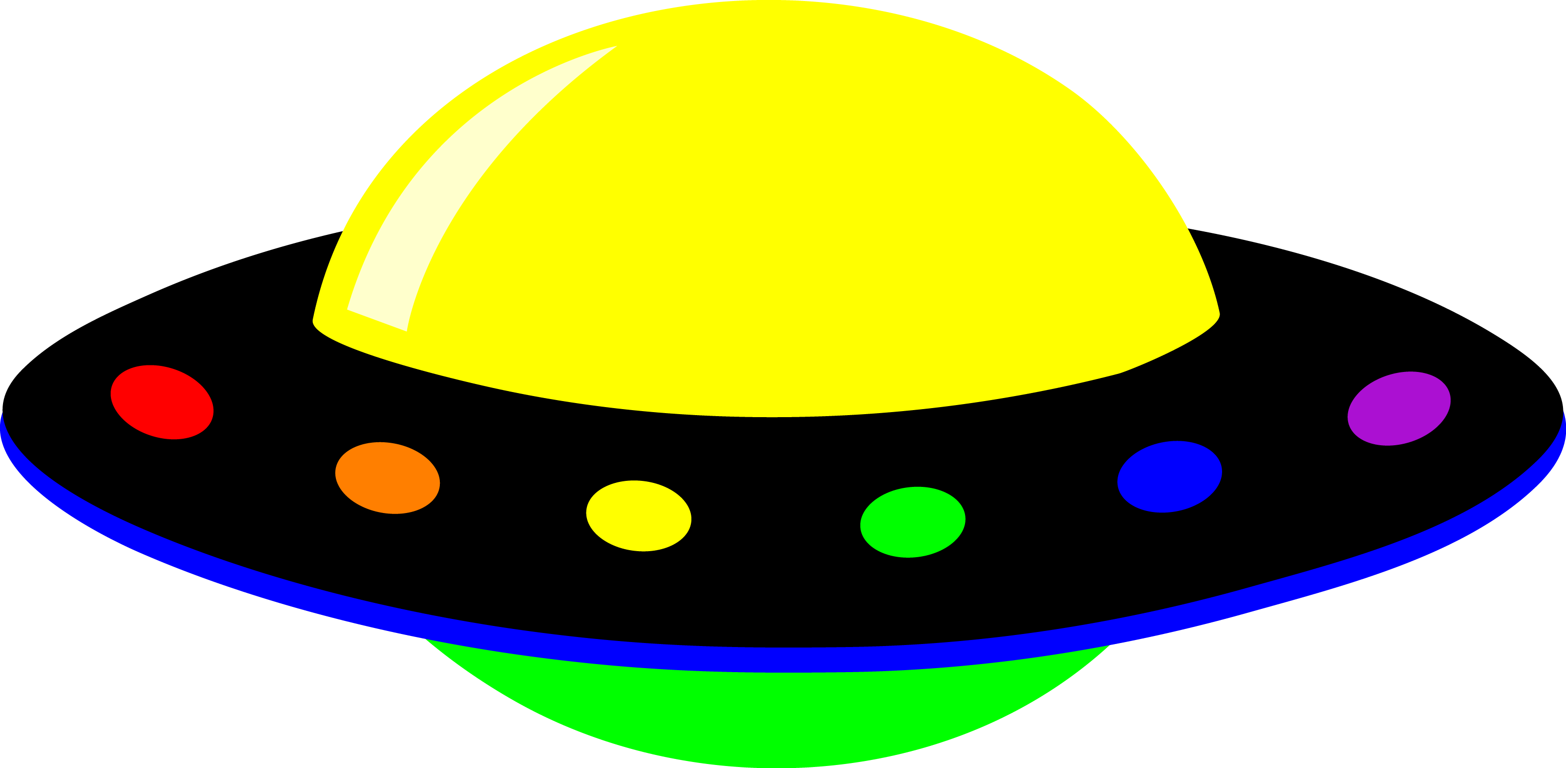 Sci Fi clipart cute alien spaceship #3